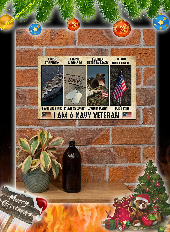 I am a navy veteran poster 1