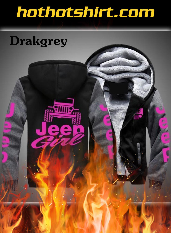 Jeep girl Fleece zip-up hoodie - darkgrey