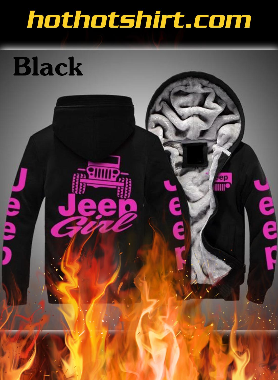 Jeep girl Fleece zip-up hoodie