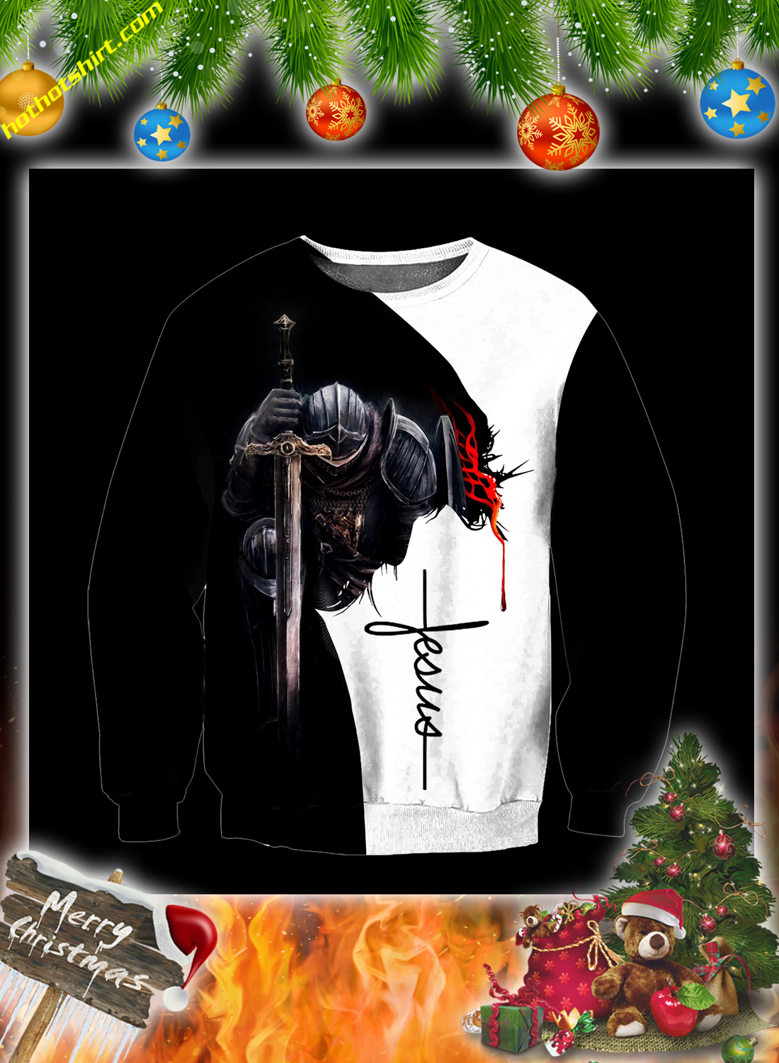 Jesus a child of god a man of faith a warrior of christ 3d all over printed hoodie 2