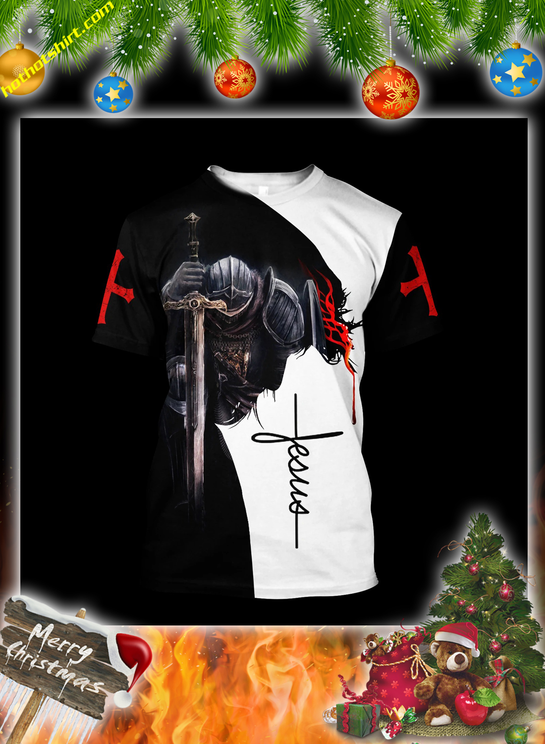 Jesus a child of god a man of faith a warrior of christ 3d all over printed hoodie 3