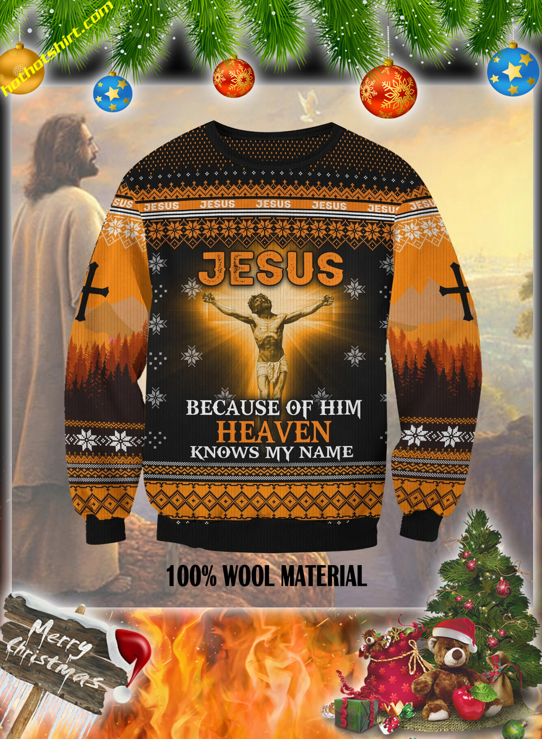 Jesus because of him heaven knows my name 3d christmas 1