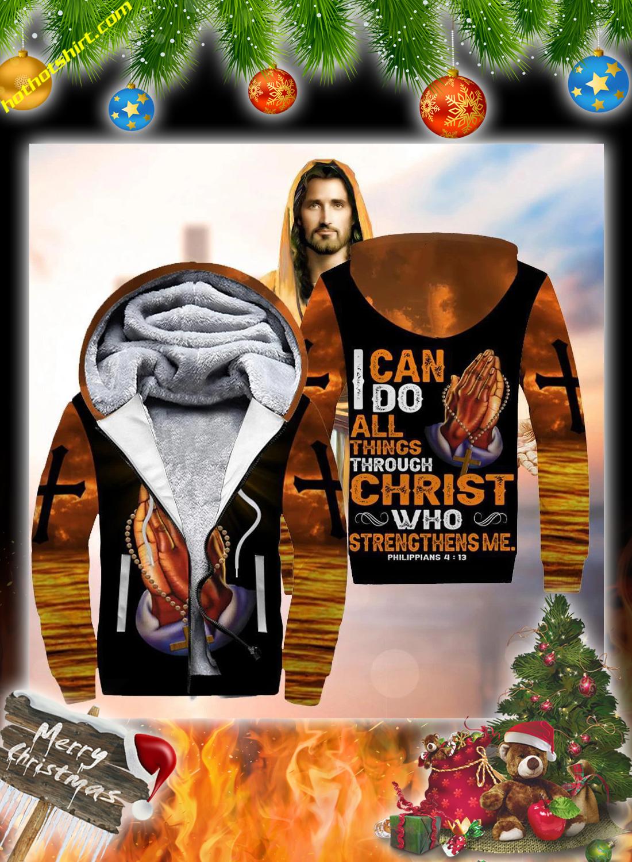 Jesus hand cross 3d christmas sweatshirt 3
