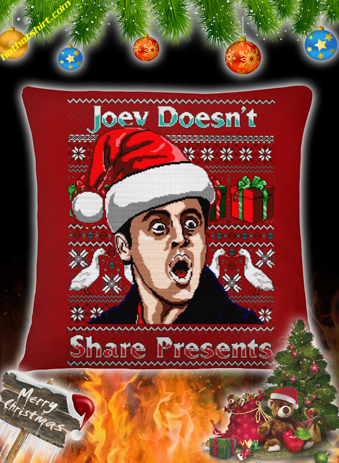 Joey doesn't share presents christmas jumper and sweatshirt 3