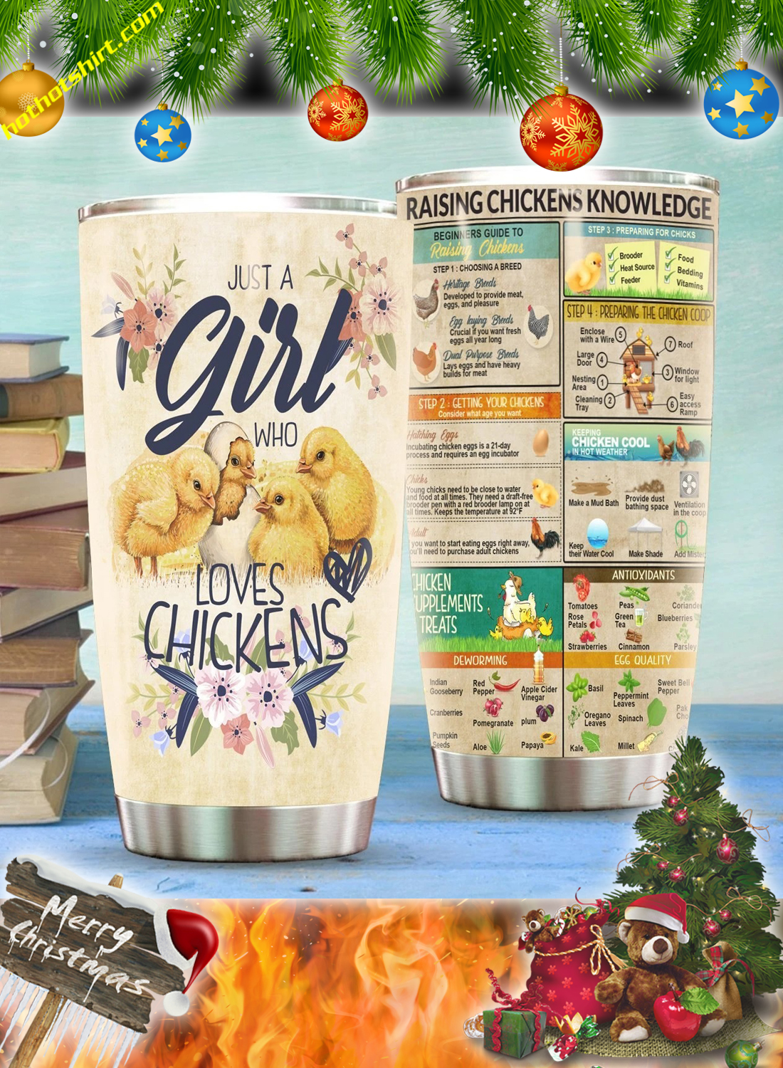 Just a girl who loves chickens tumbler 3