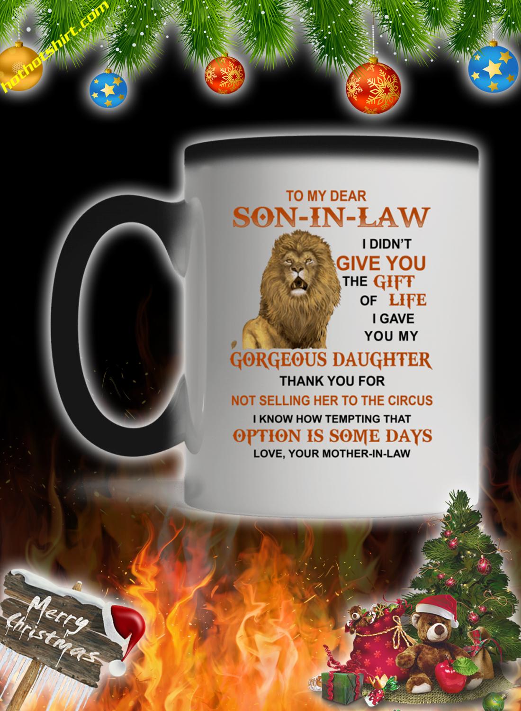 Lion To my dear son in law mug 1