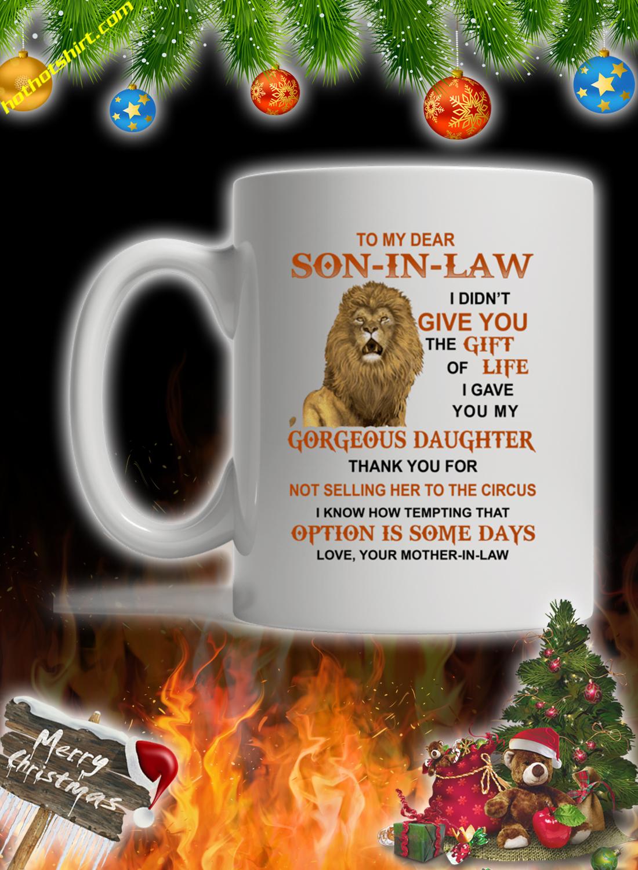 Lion To my dear son in law mug