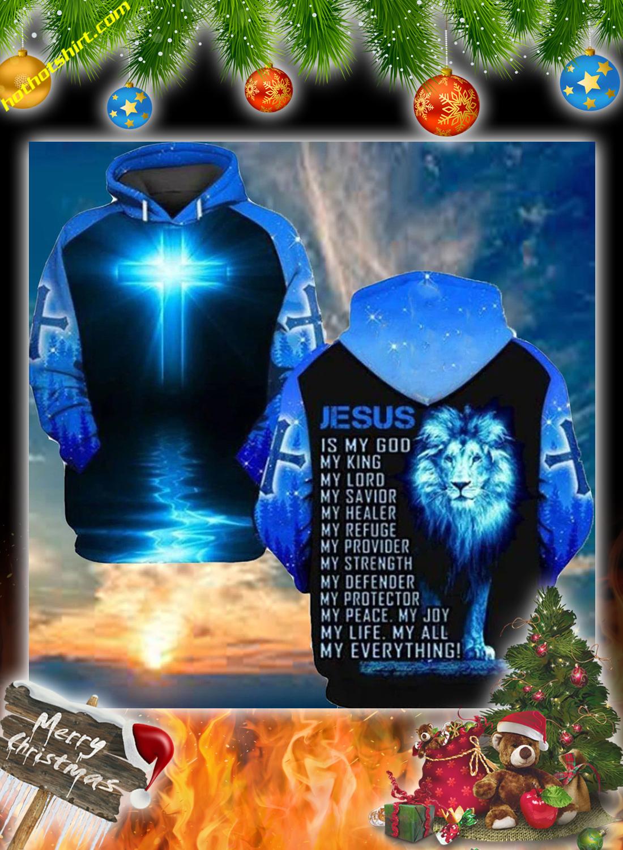Lion jesus 3d christmas sweatshirt 1