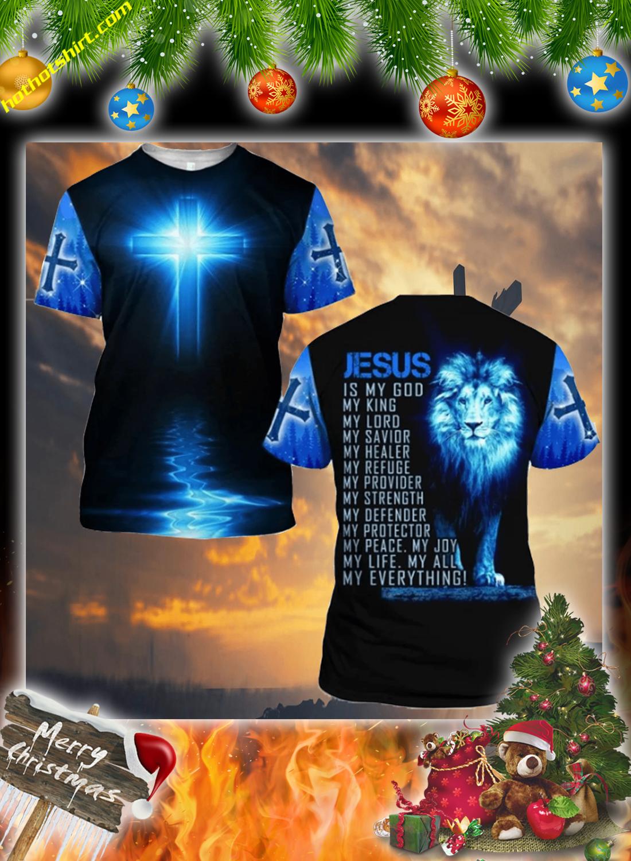 Lion jesus 3d christmas sweatshirt 5