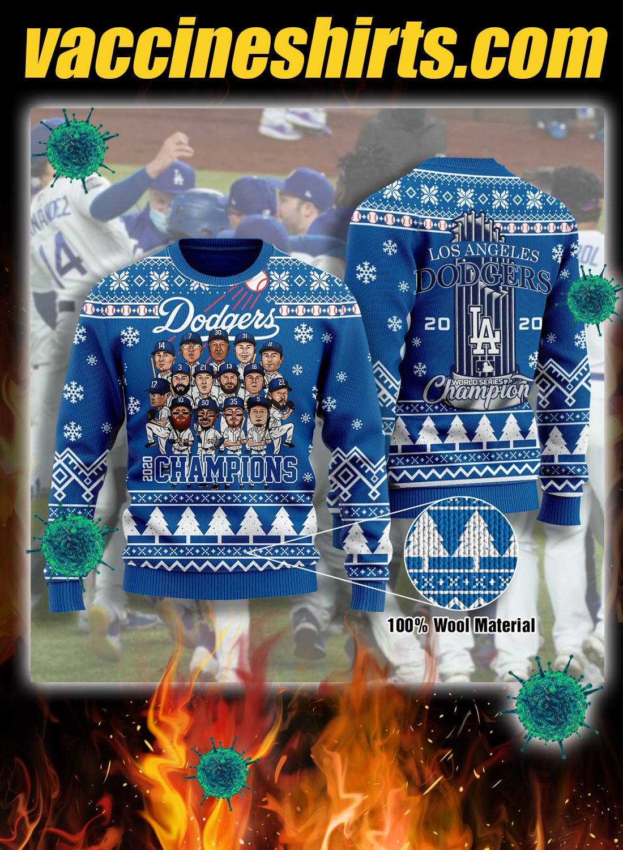 Los angeles dodgers champions 3d christmas sweatshirt 1