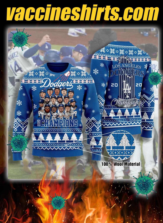Los angeles dodgers champions 3d christmas sweatshirt 3