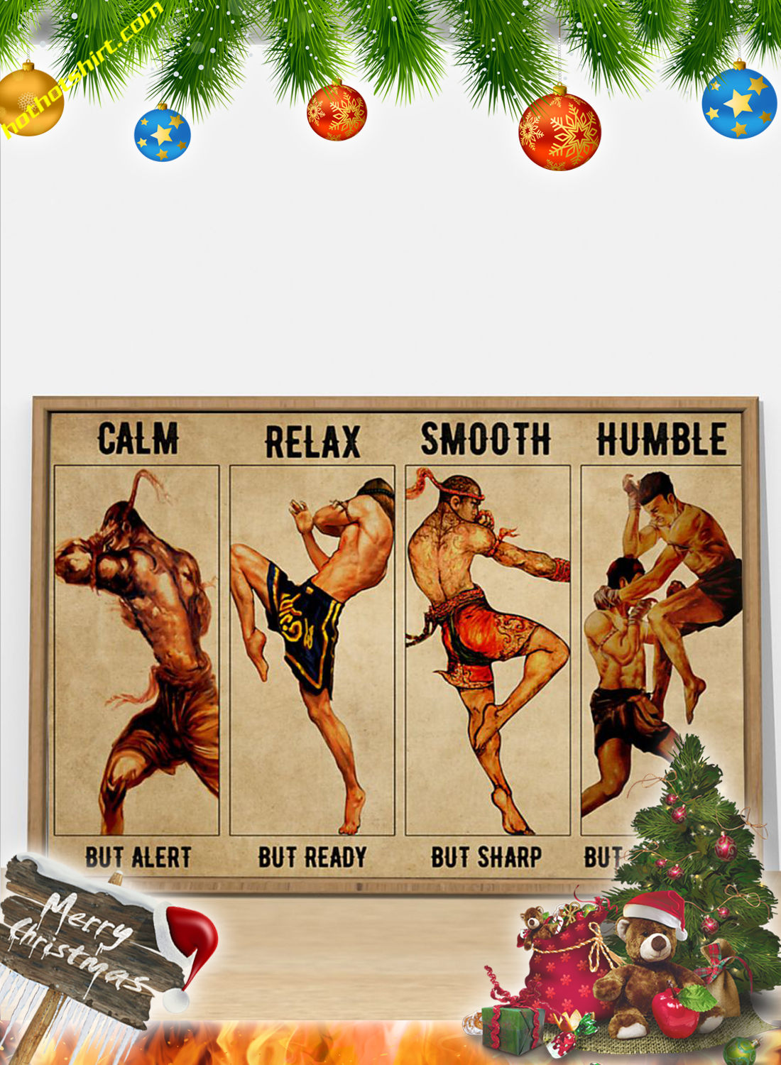 Muay Thai Calm but alert poster 1