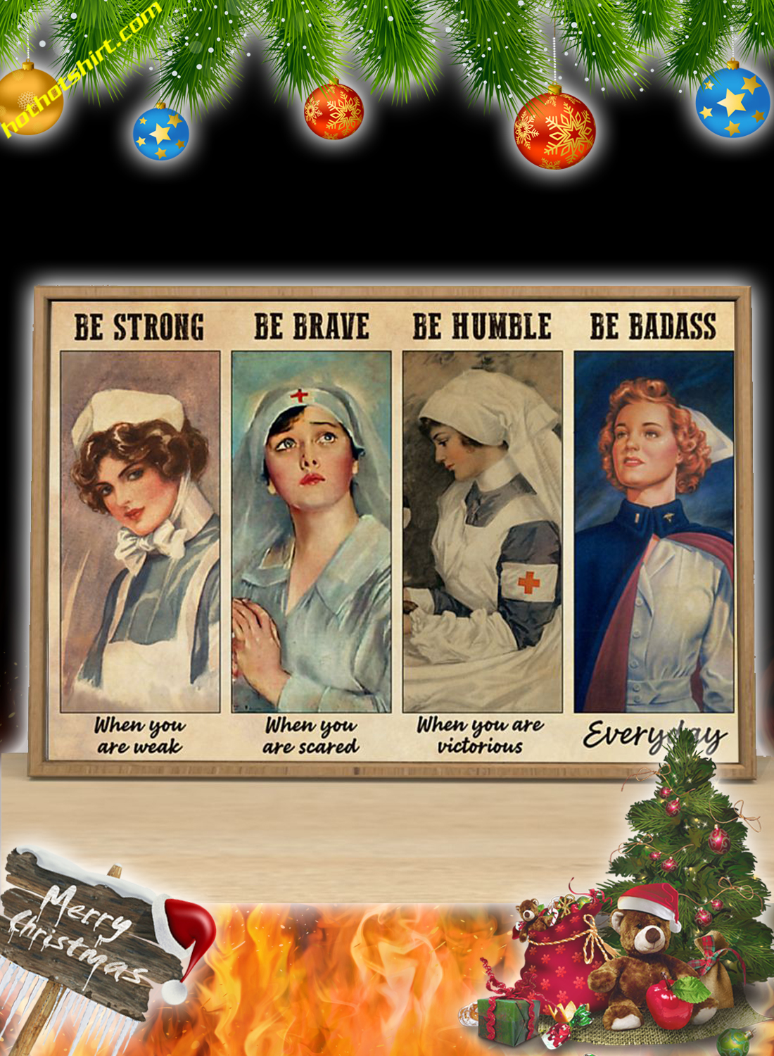 Nurses Be strong when you are weak poster 2