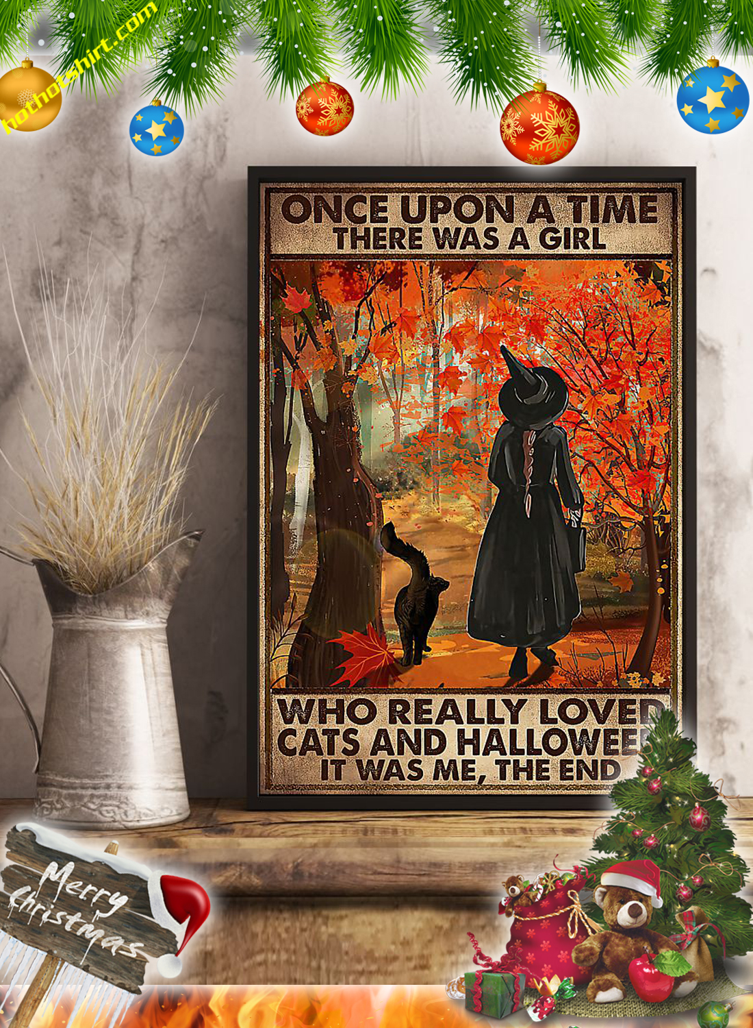 Once upon a time there was a girl who really loved cats and halloween it was me the end poster 3