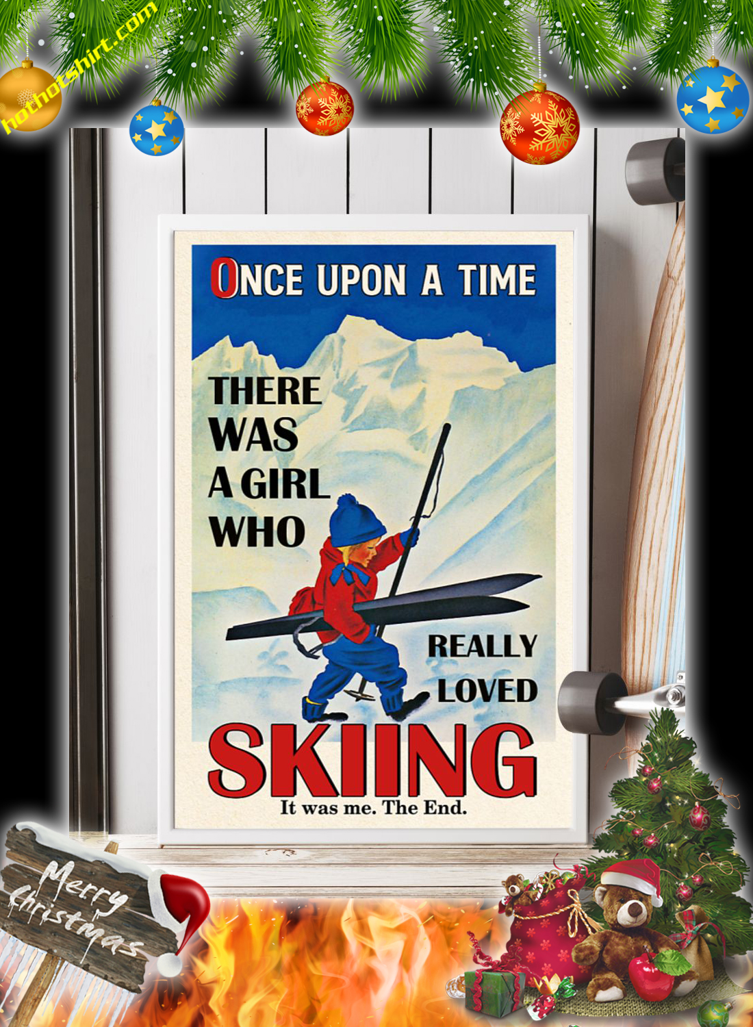 Once upon a time there was a girl who really loved skiing poster 2