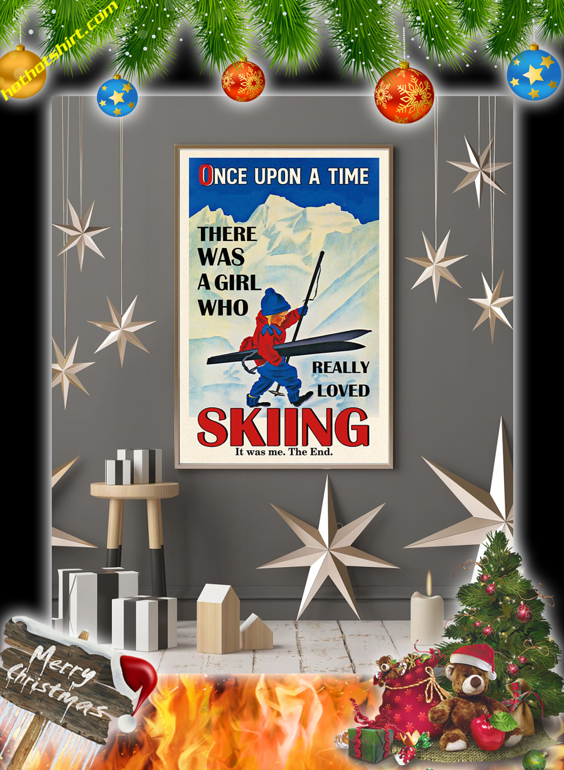 Once upon a time there was a girl who really loved skiing poster 3