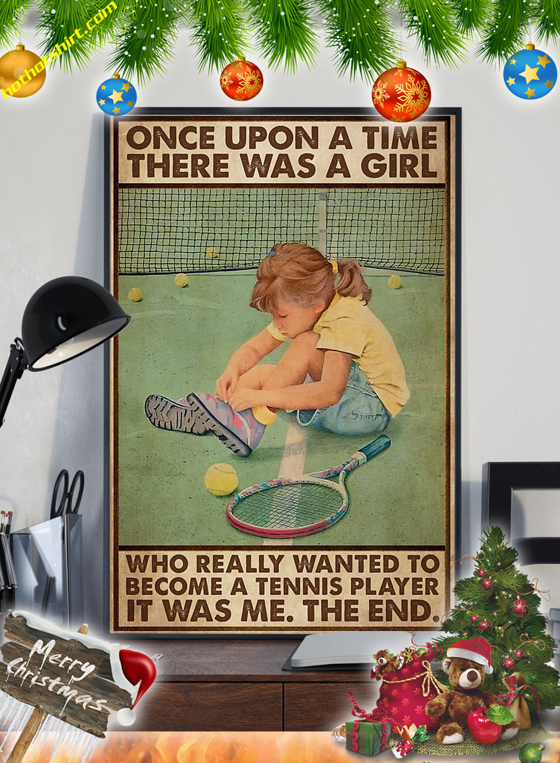 Once upon a time there was a girl who really wanted to become a tennis player poster 2