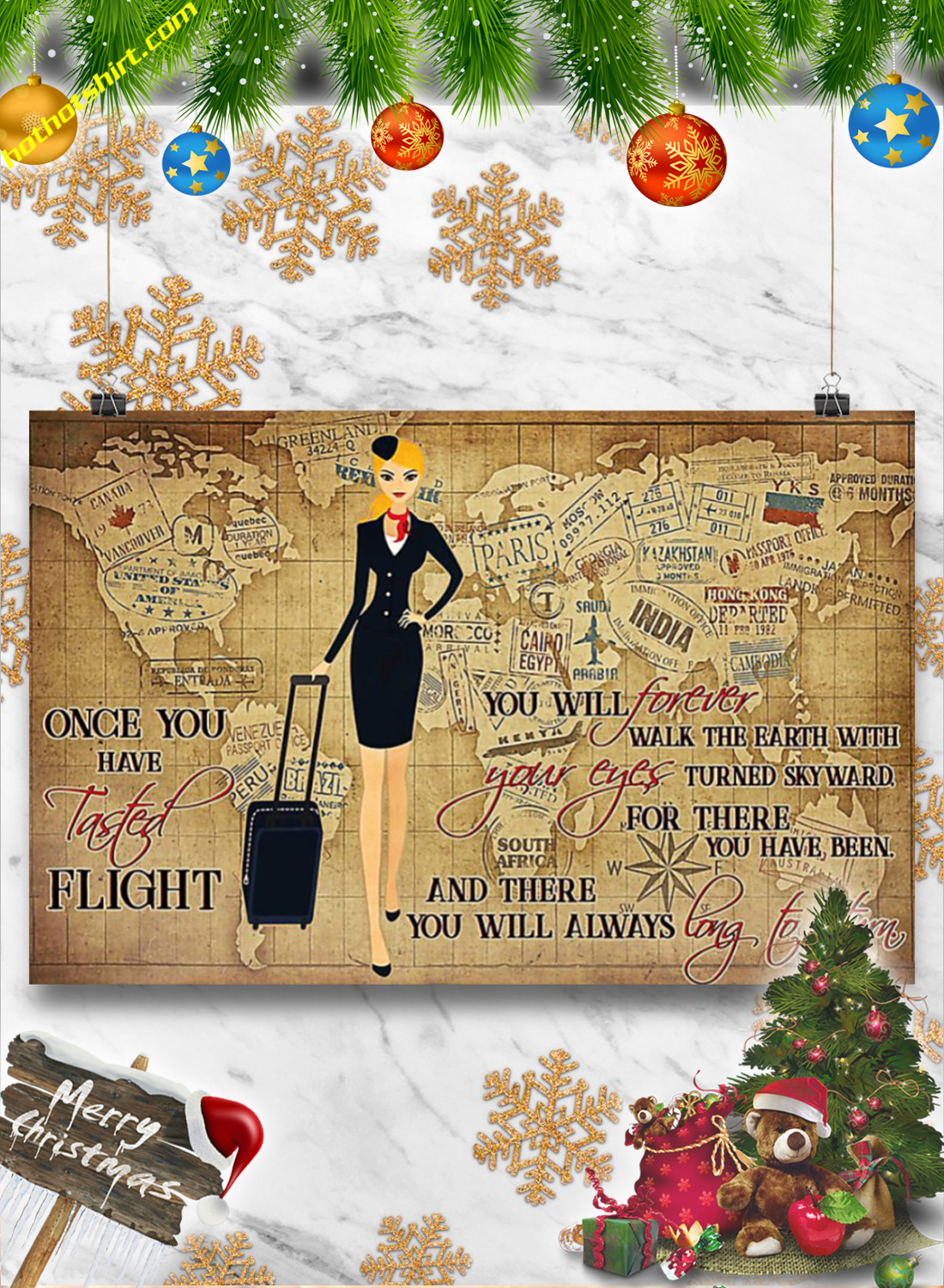 Once you have tasted flight Flight attendant poster 3