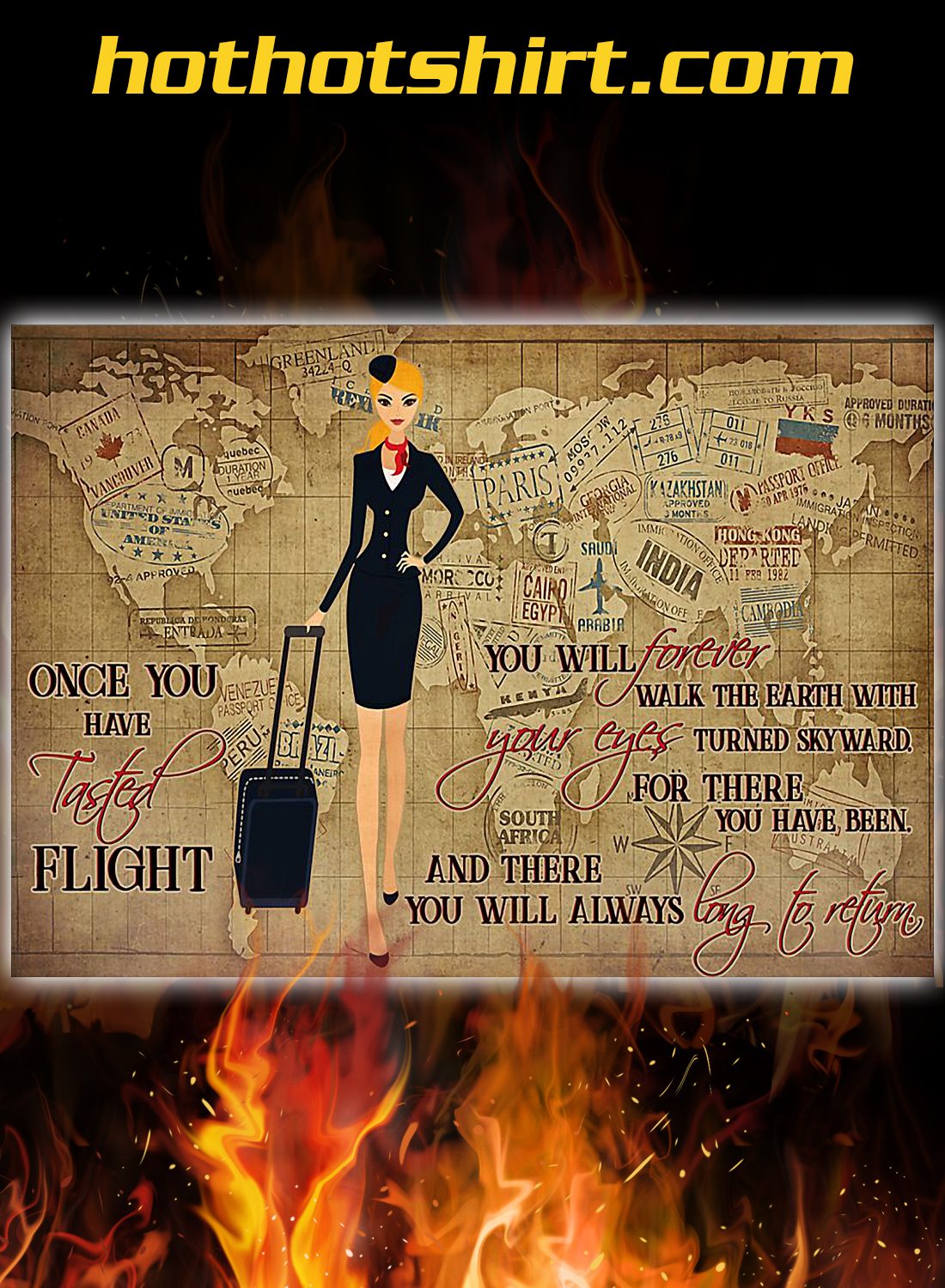 Once you have tasted flight you will forever walk the earth poster 3