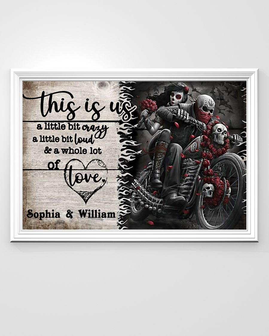 Personalize Motorcycling Skeleton This is us a little bit poster 2
