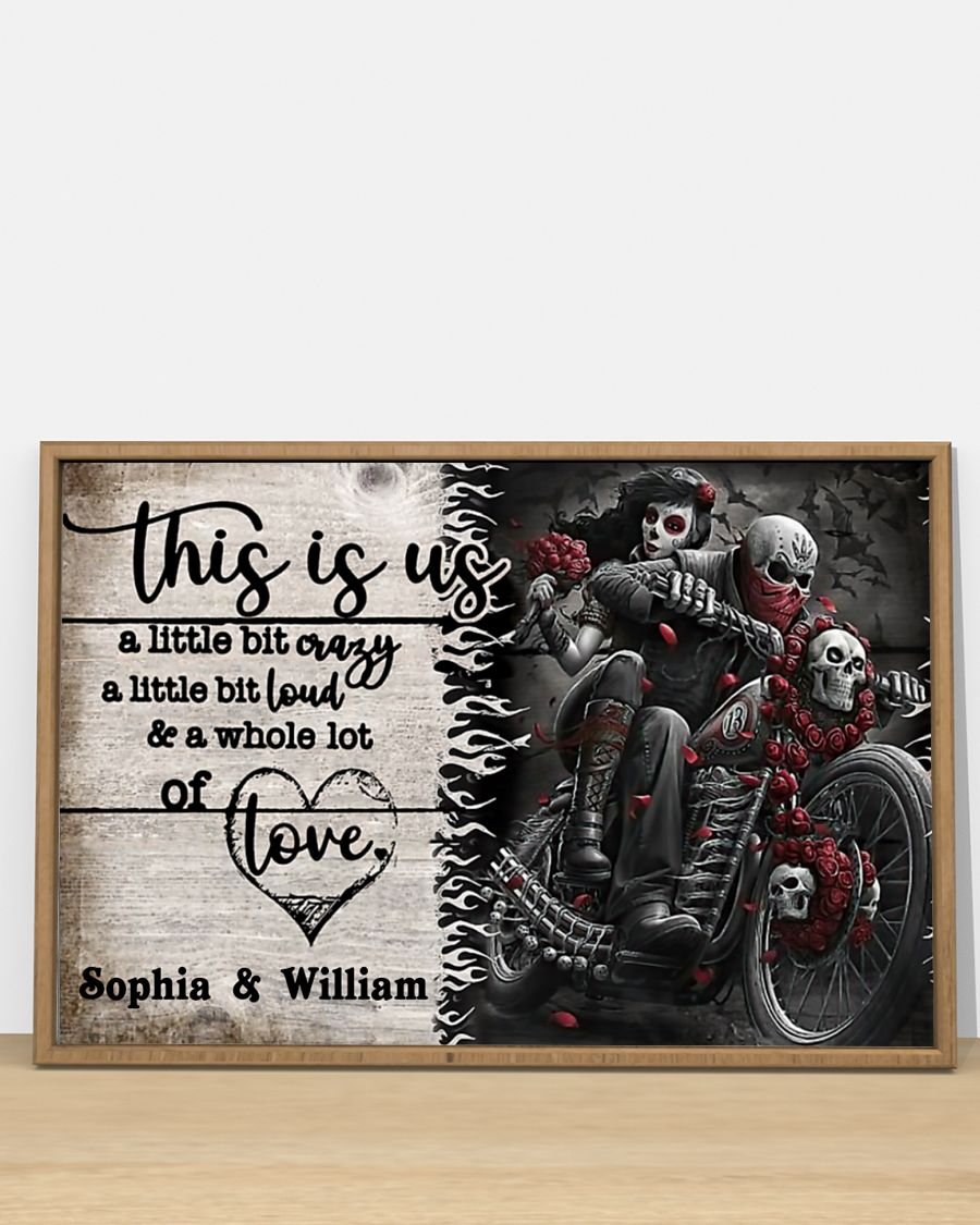 Personalize Motorcycling Skeleton This is us a little bit poster 3