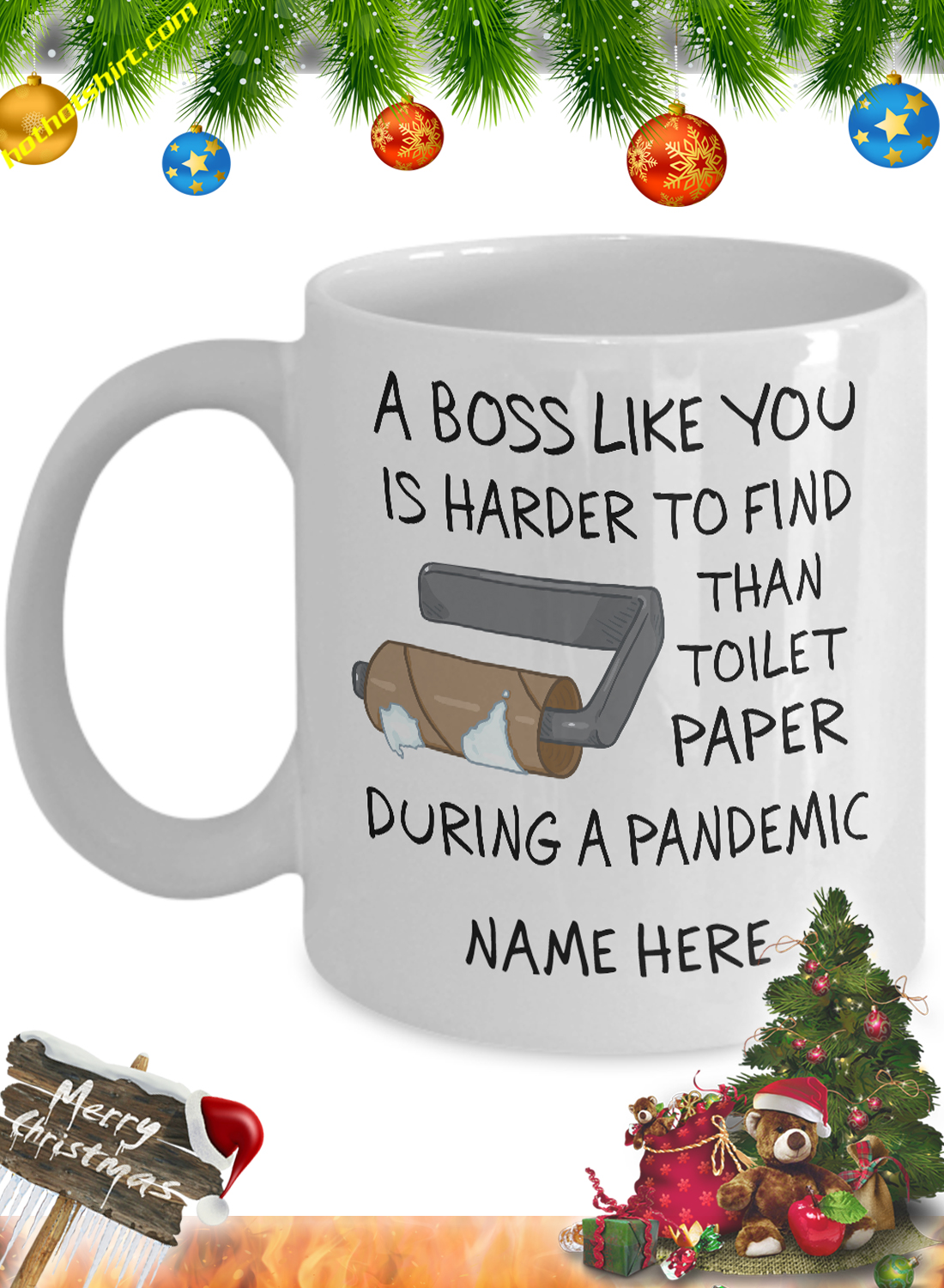 Personalized custom name A boss like you is harder to find than toilet mug