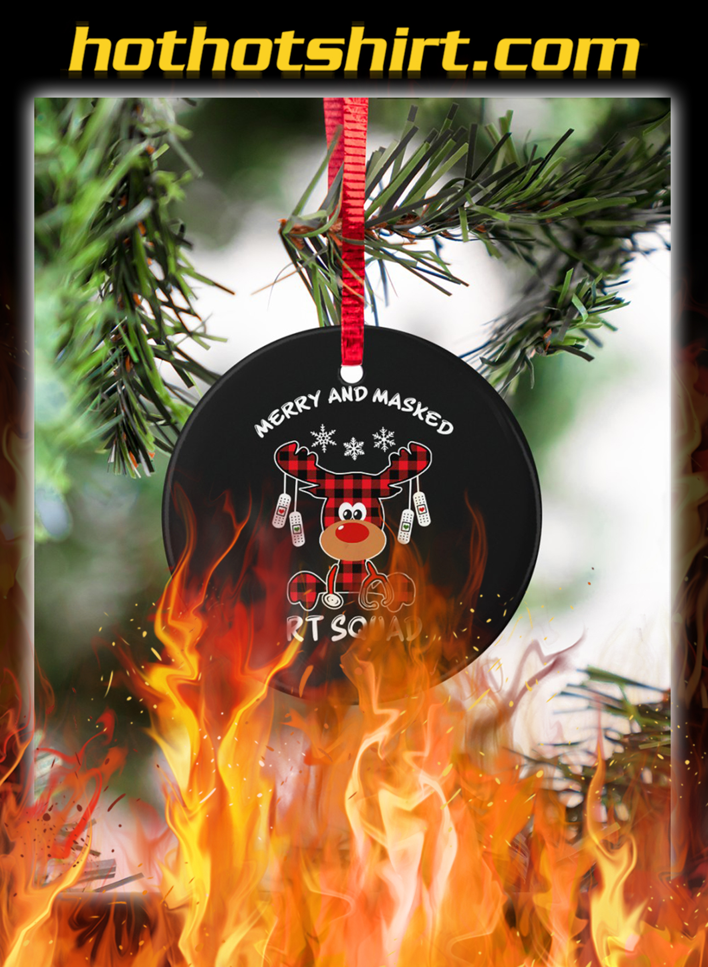 Reindeer Merry and masked rt squad ornaments- pic 1