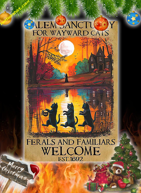 Salem sanctuary for wayward cats halloween poster 3
