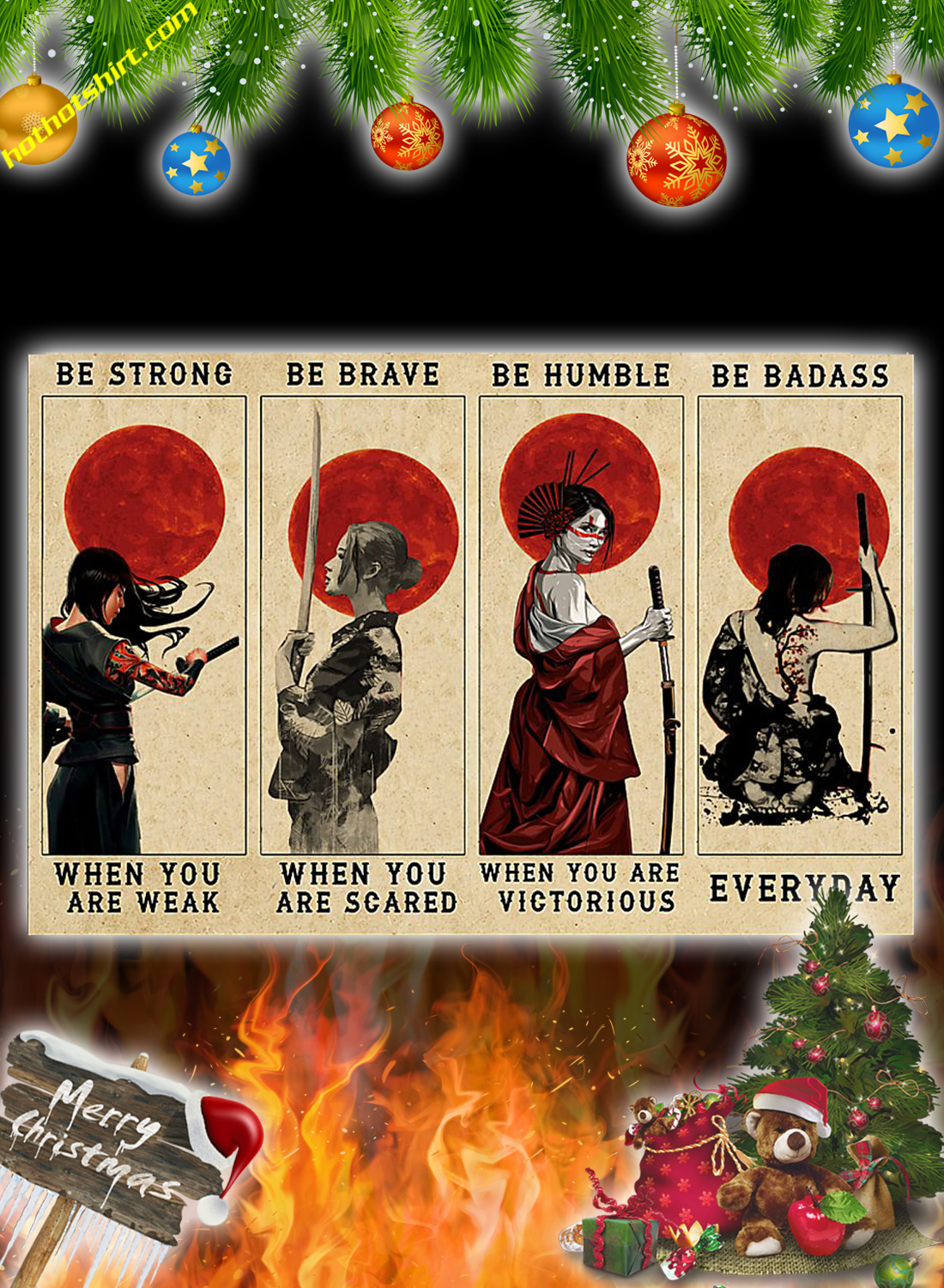 Samurai women Be strong when you are weak poster 2