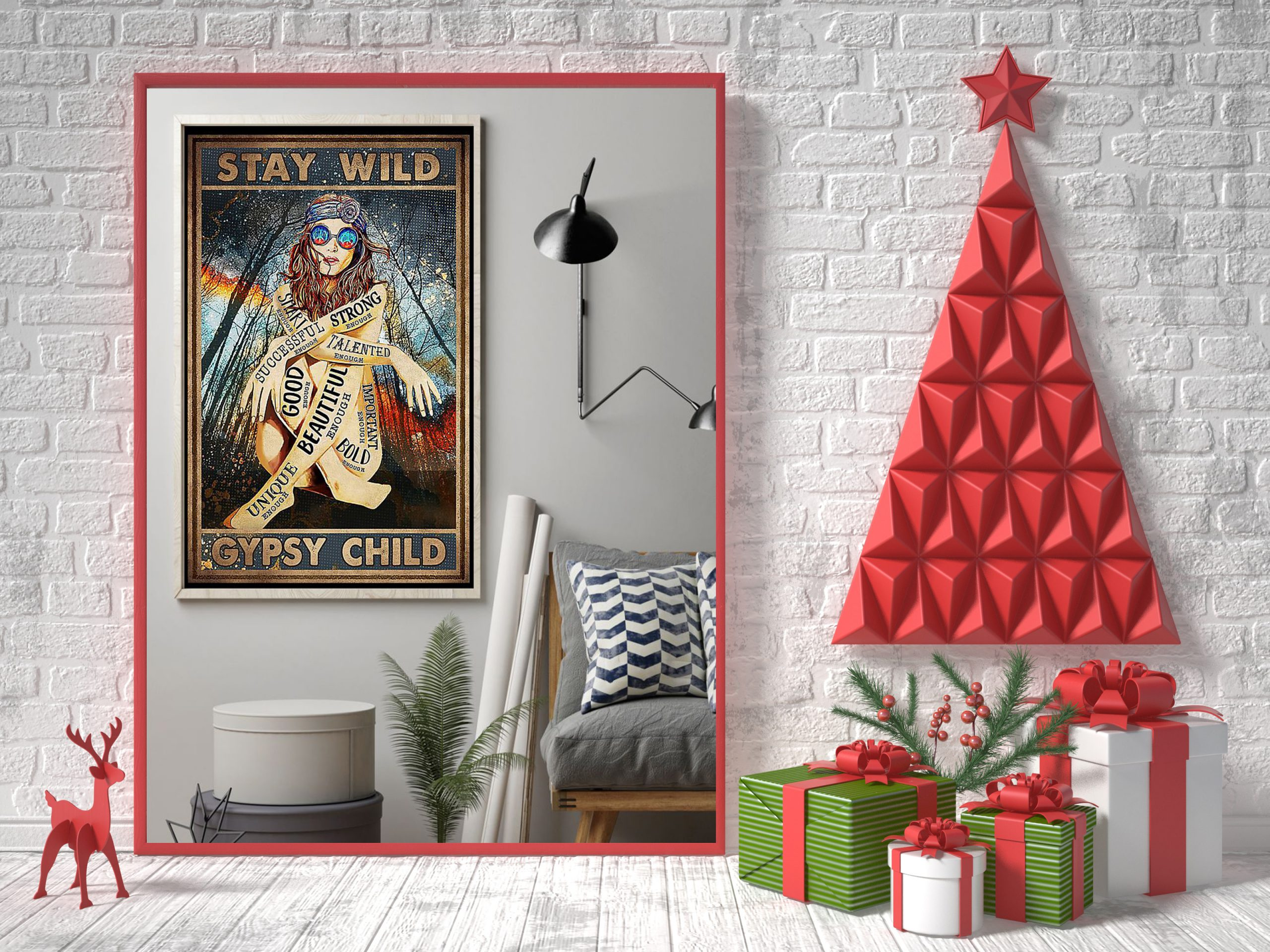 Stay wild gypsy child smart strong good beautiful poster 1