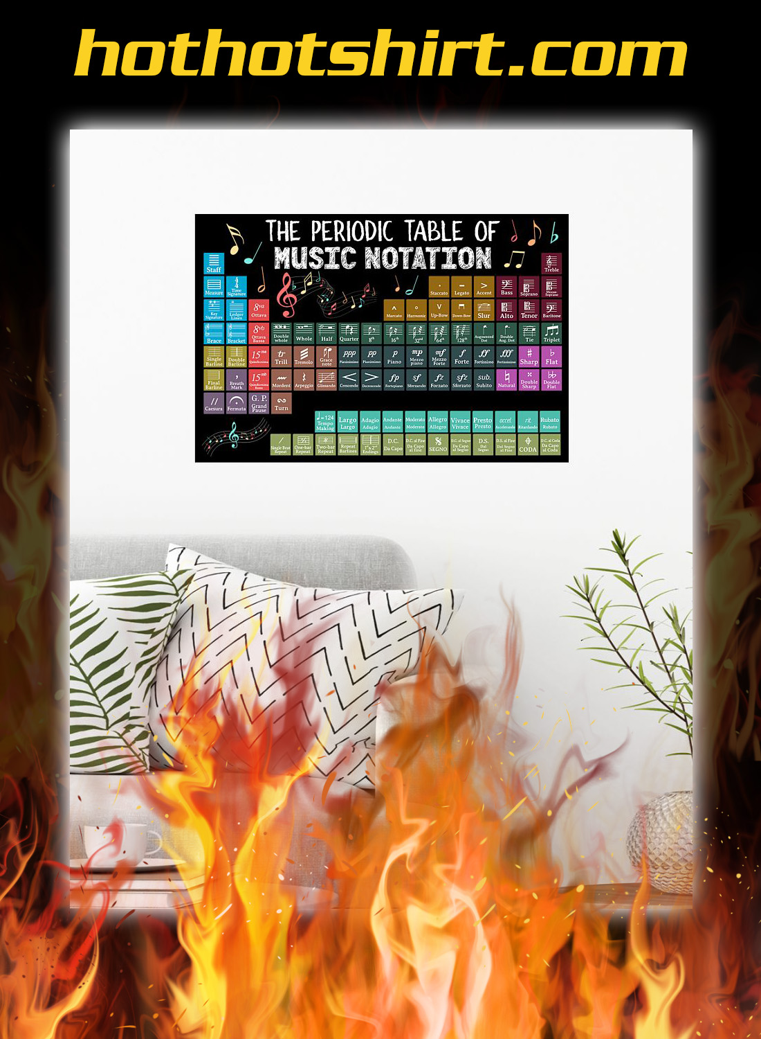 The periodic table of music notation poster 1