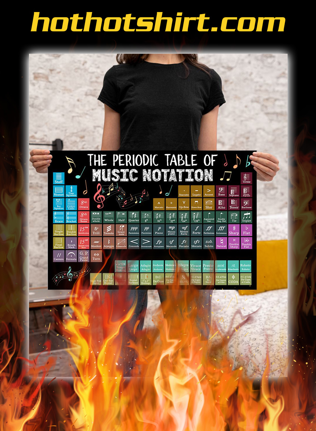 The periodic table of music notation poster 3