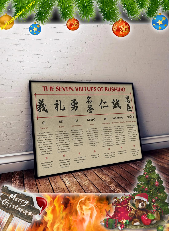 The seven virtues of bushido samurai poster 2