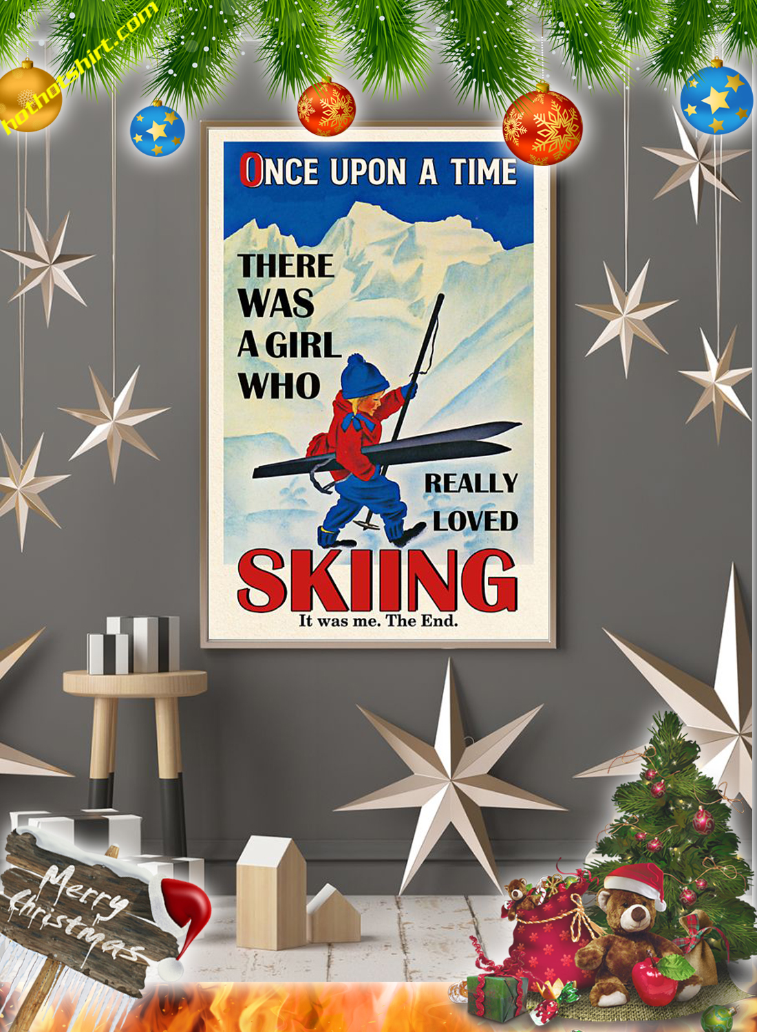 There was a girl who really loved skiing Poster 1