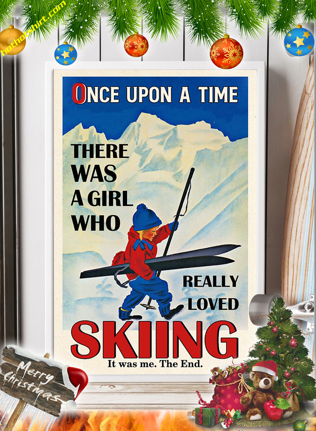 There was a girl who really loved skiing Poster 2