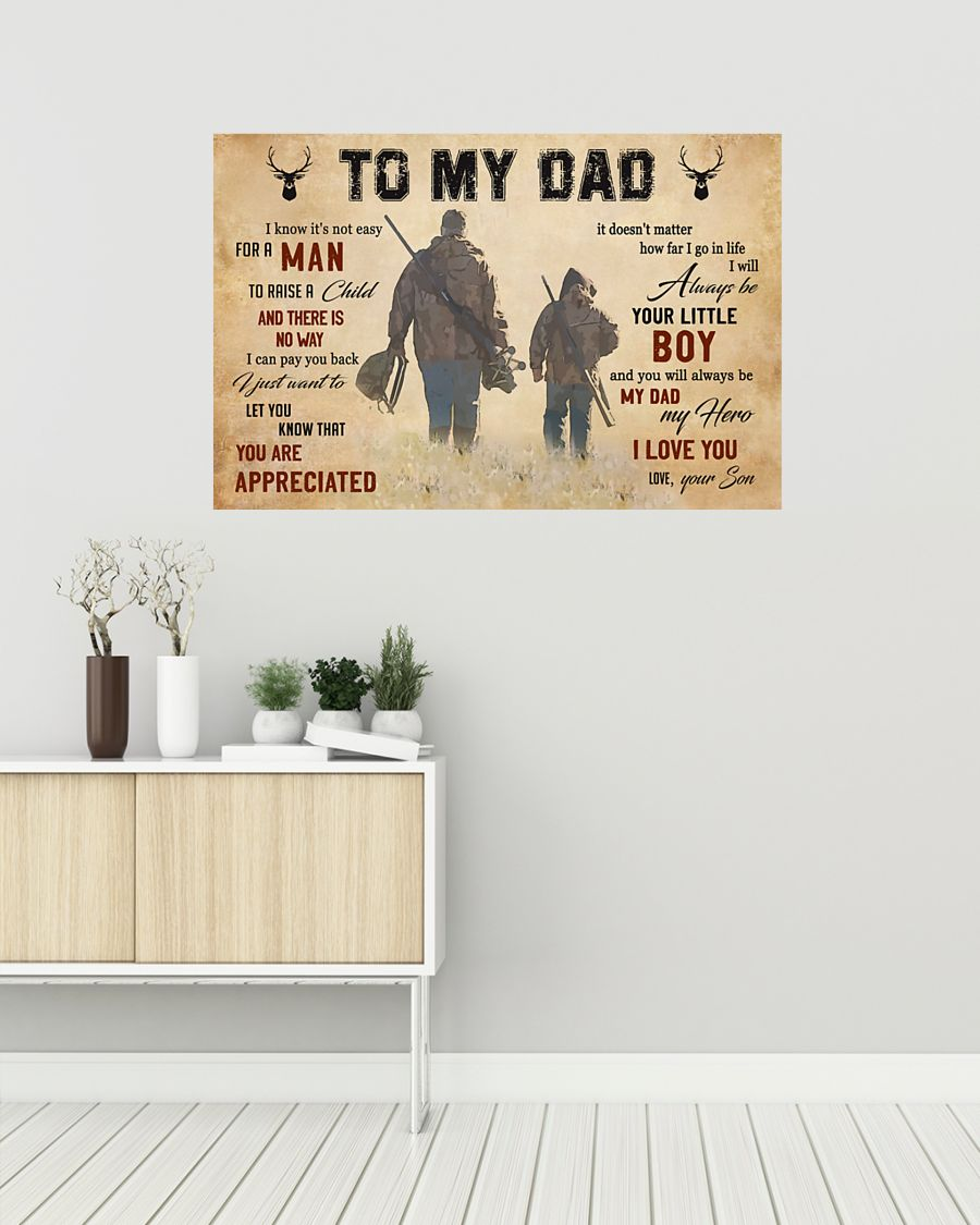 To my dad hunting poster 1