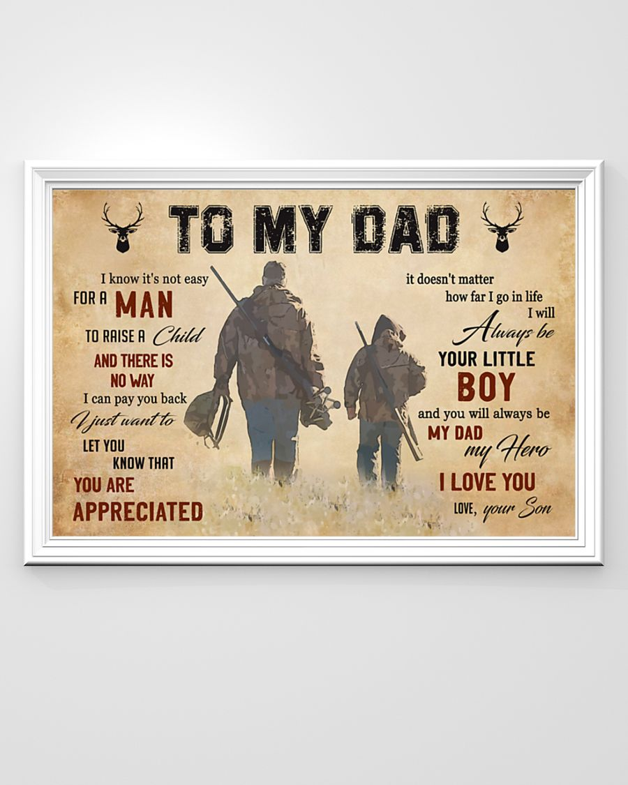 To my dad hunting poster 2