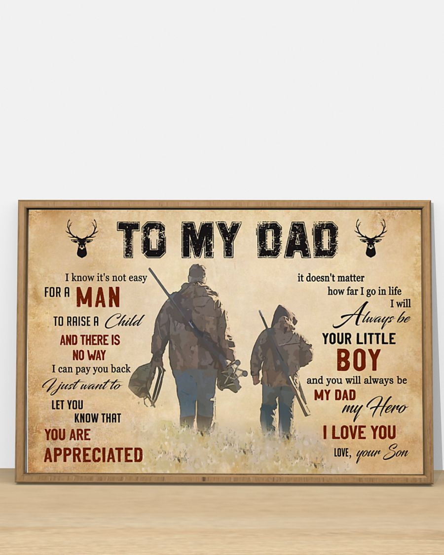 To my dad hunting poster 3