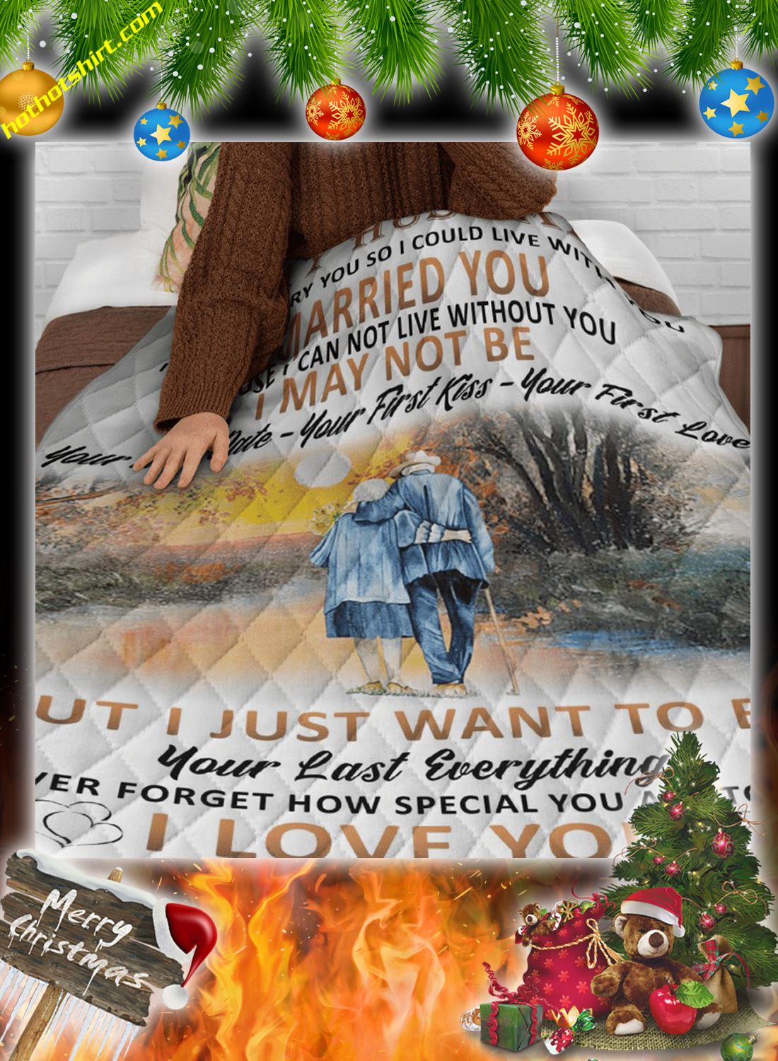 To my husband i didn't marry you so i could live with you your wife quilt 3