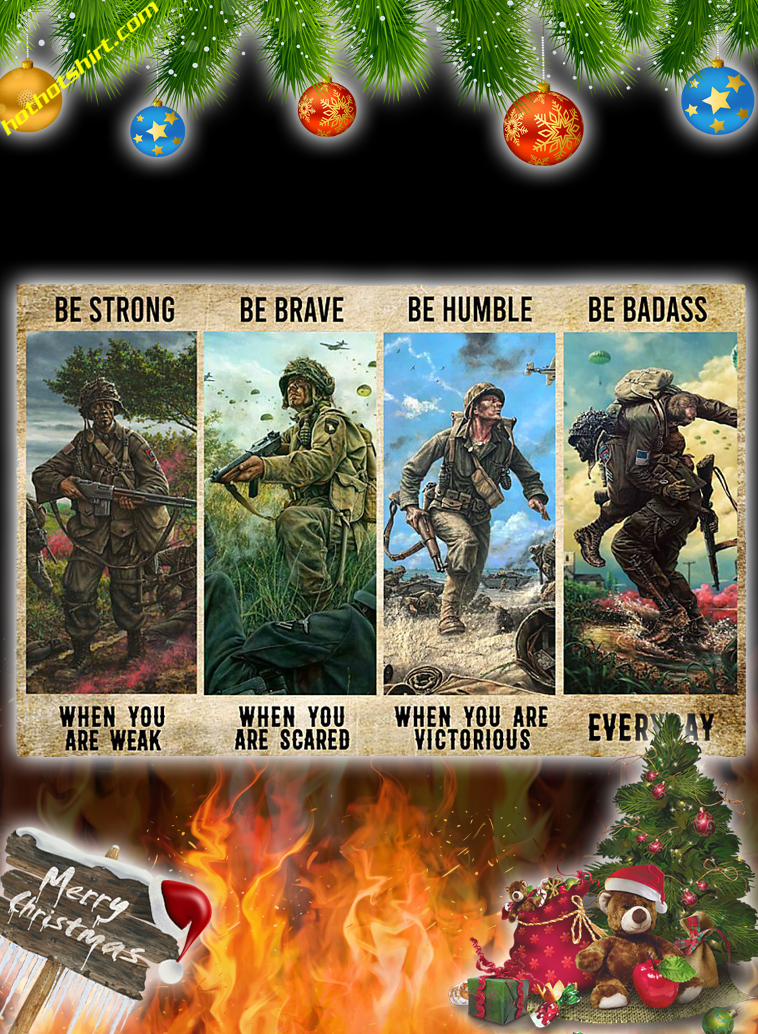 Veteran Be Strong Be Brave Be Humble Be Badass Poster 1
