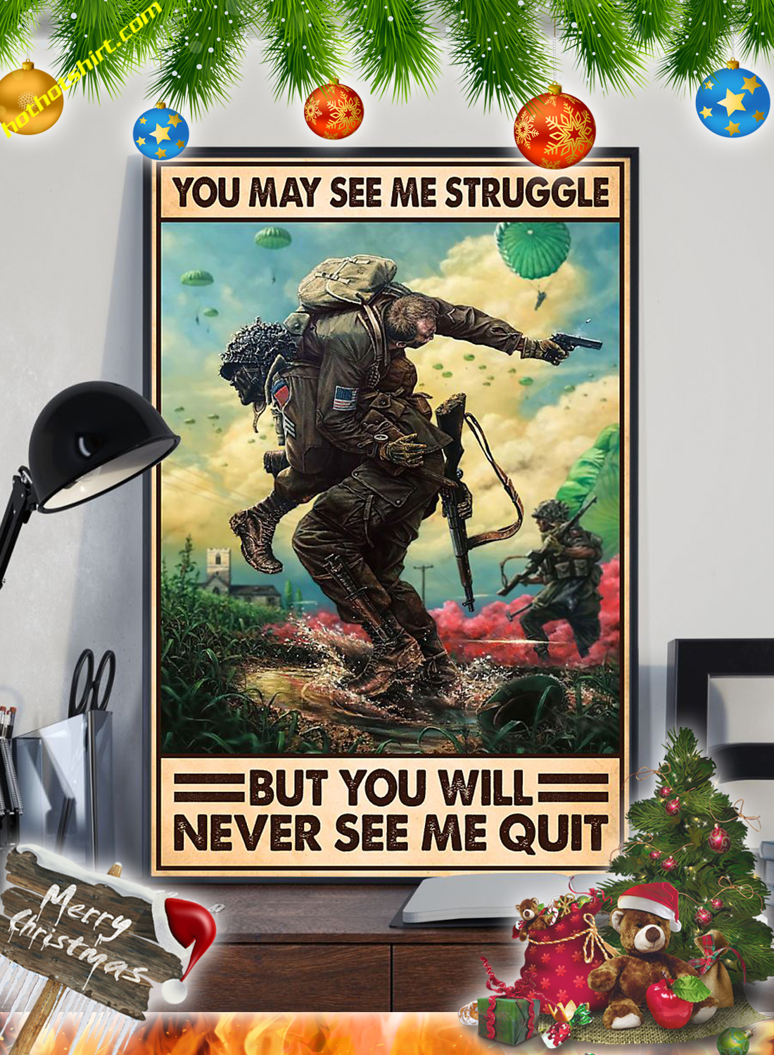 Veteran You may see me struggle but you will never see me quit poster 3