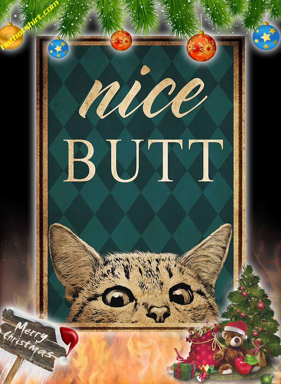 Vintage cat nice butt poster and canvas 2