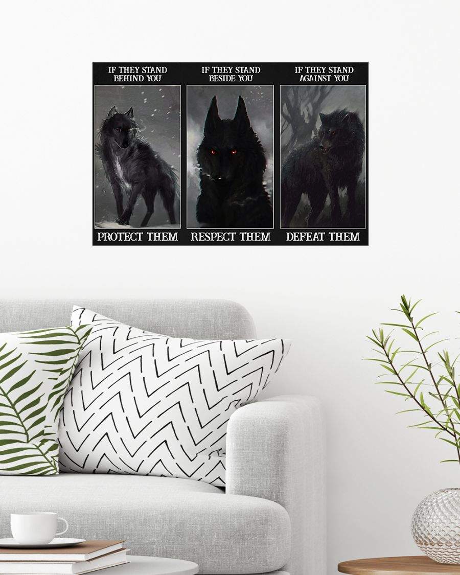 Wolf Protect respect defeat poster 1