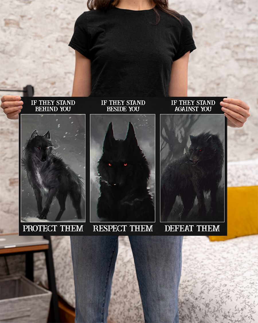 Wolf Protect respect defeat poster 2