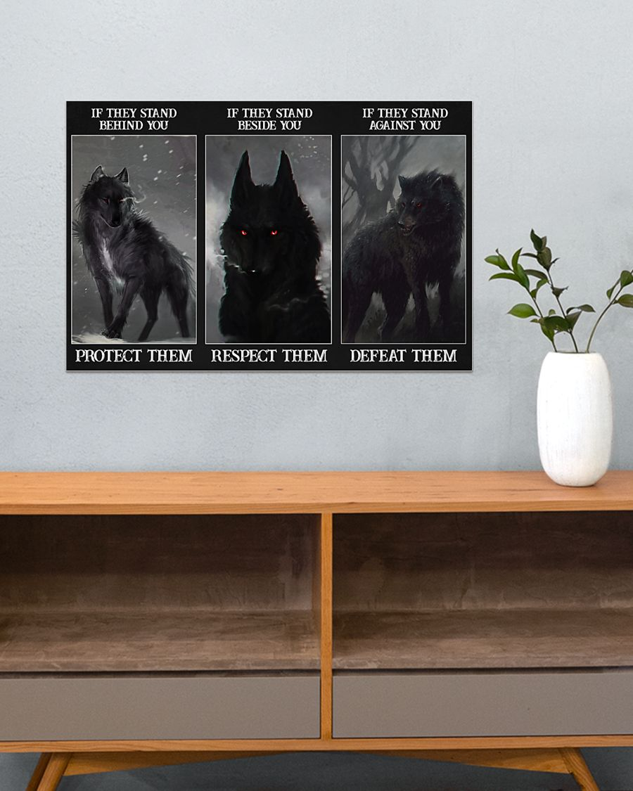 Wolf Protect respect defeat poster 3