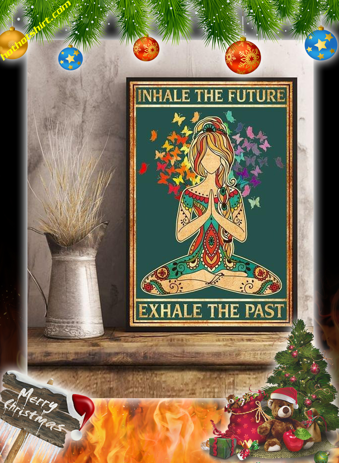 Yoga inhale the future exhale the past poster 2