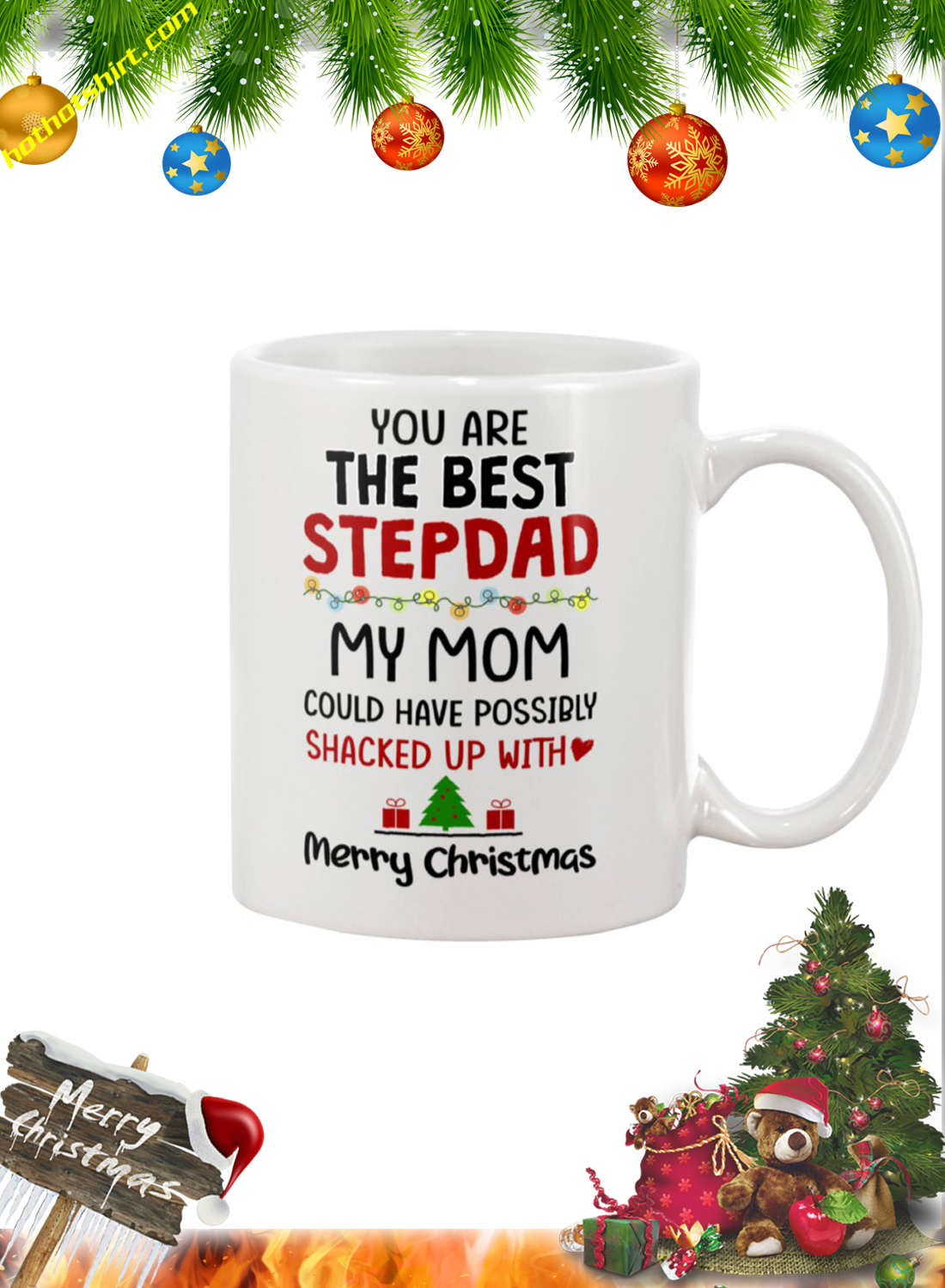 You are the best stepdad my mom merry christmas mug 1