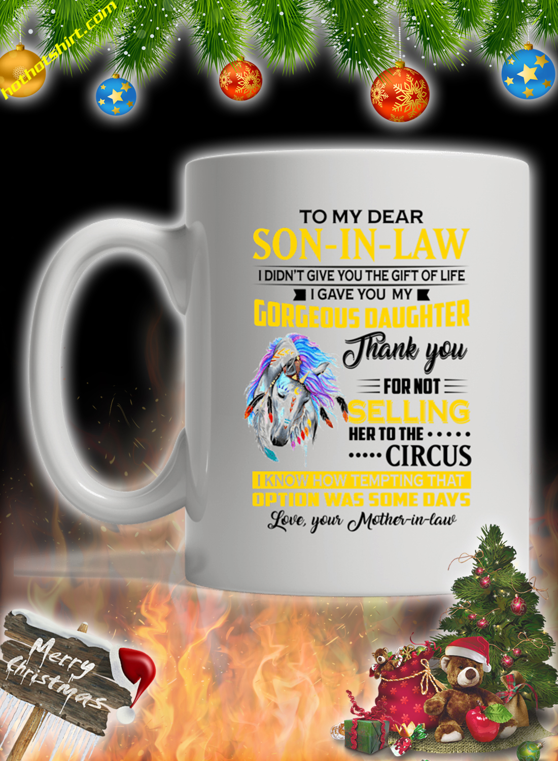 Eagle To My Dear Son In Law Mother In Law Mug