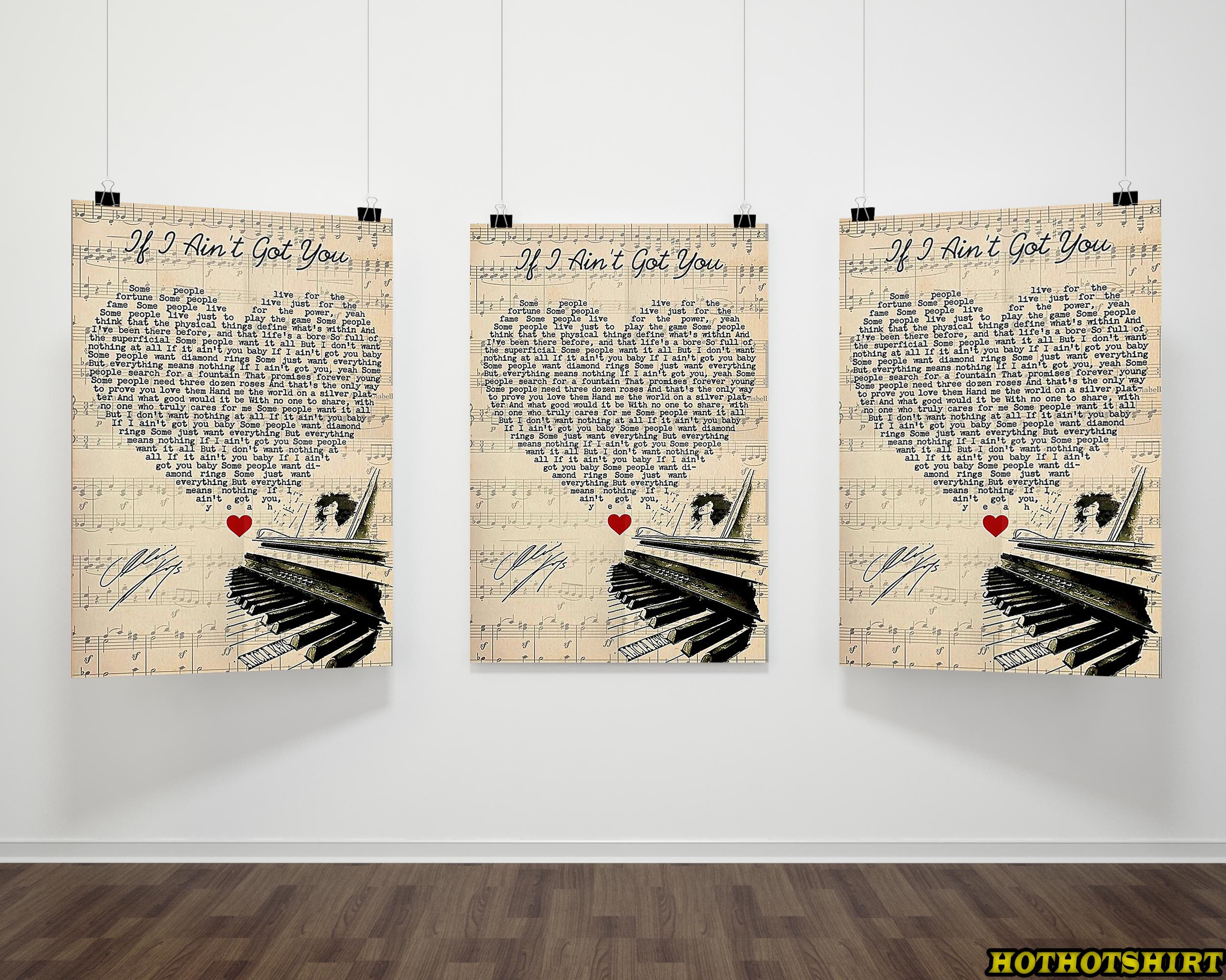 Alicia Keys If I Ain't Got You Lyrics Canvas Poster 1