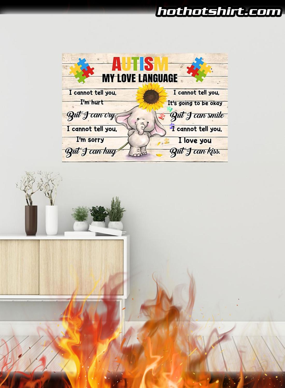 Autism my love language elephant poster 1